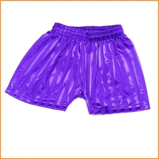 Purple PE shorts