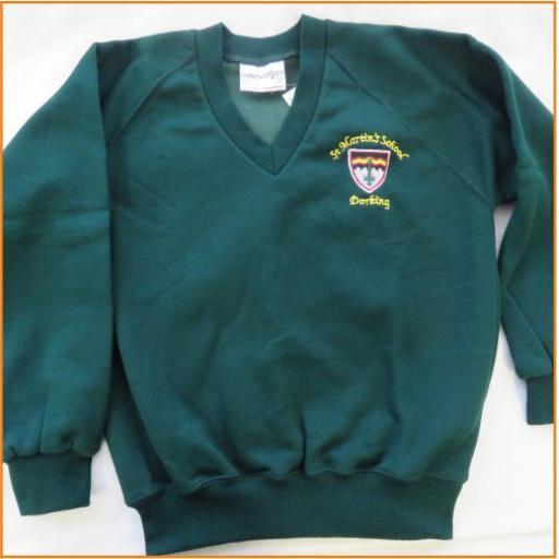 St Martin's Sweatshirt - V Neck