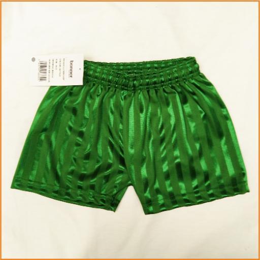 Green P.E. shorts