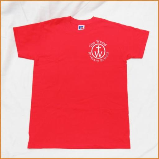 The Weald P.E. T Shirt, red