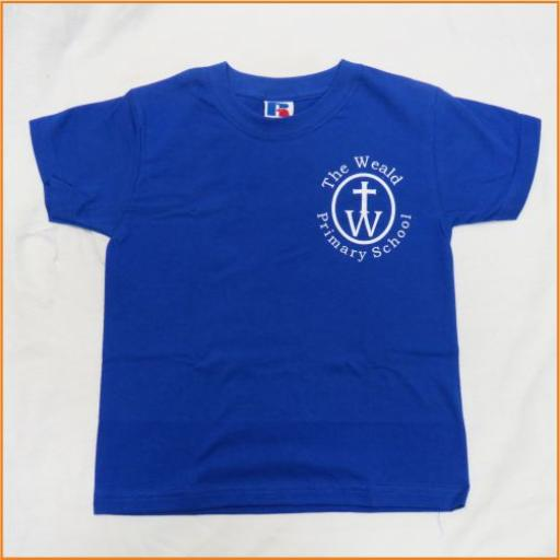 The Weald P.E. T Shirt, blue
