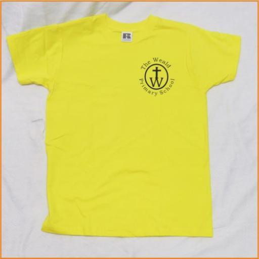 The Weald P.E. T Shirt, yellow
